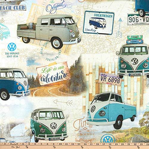 - ArtCo Woven Volkswagen Original Vintage Bus