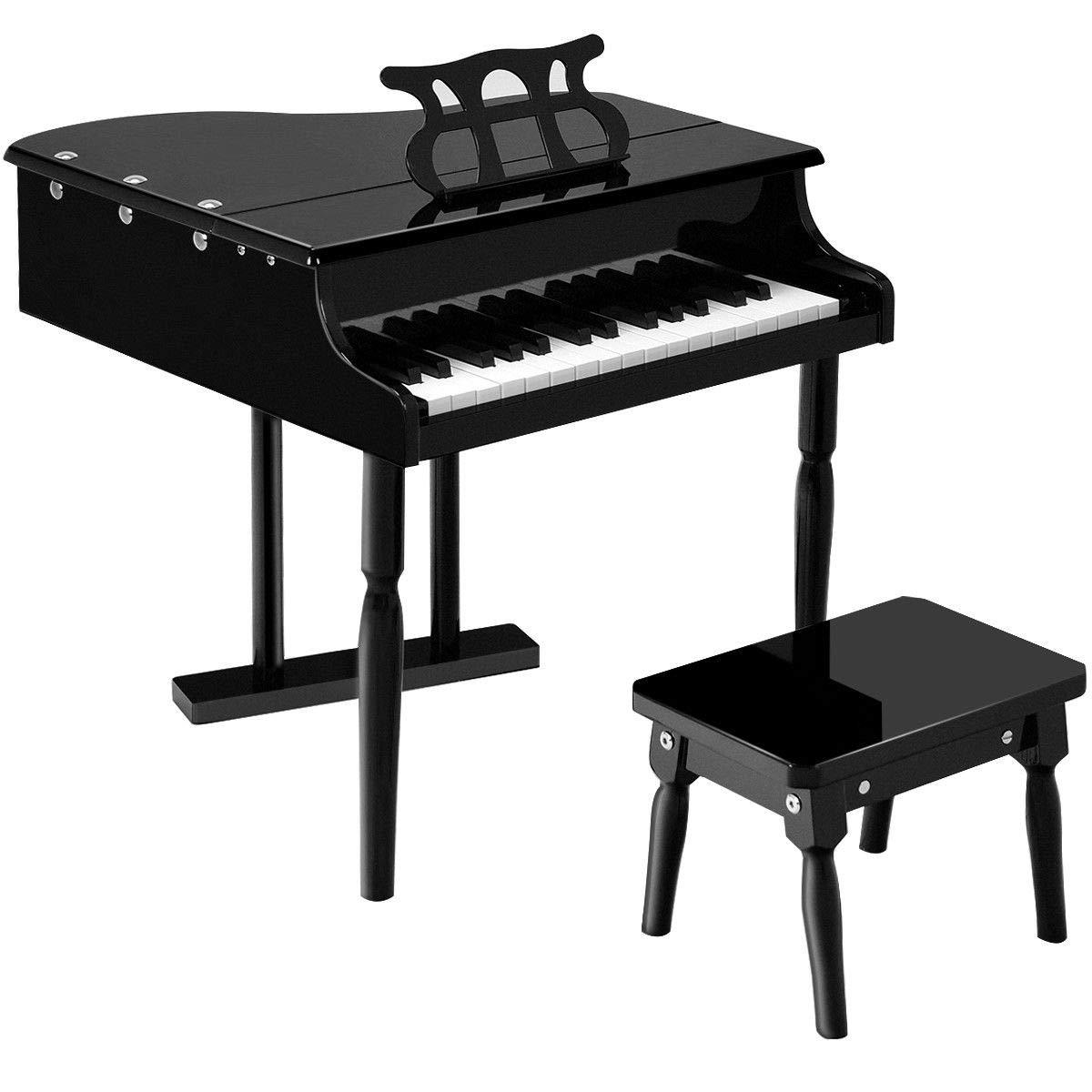 【誠実】 KCHEX>子供用30キートイ グランドベイビーピアノ 子供用 ベンチウッドブラック これは当社の美しい30キー木製グランドピアノで B07HKXP39Y、幼児と子供に最適です。 子供用 B07HKXP39Y, 嘉島町:7840c650 --- a0267596.xsph.ru
