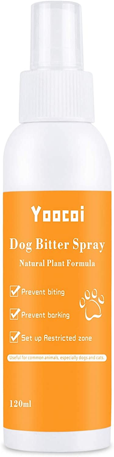 Yoocoi Dog Anti Chew Repellents Spray| Stop Biting and Chewing for Dogs and Cats | No Pee&Poop| pet Corrector Spray |Bitter Spray Dog Repellent Sprays 120 ML, 4 oz.