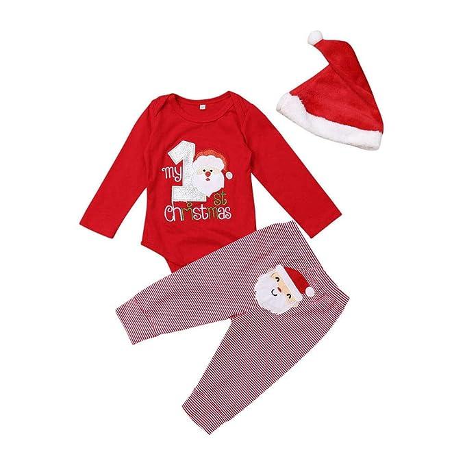 Bebé Recién Nacido Navidad 3 Piezas Traje Disfraz Navideño ...