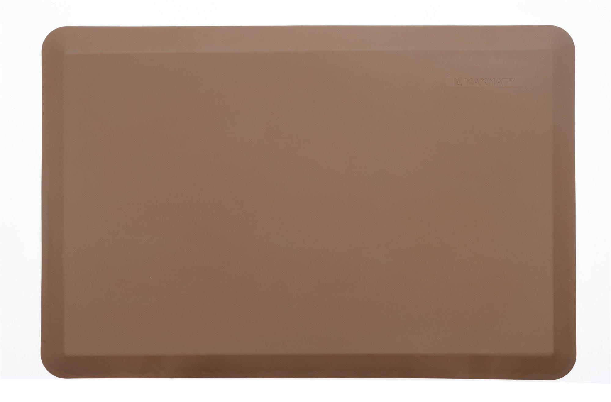 MaxMat Original Anti Fatigue Standings Cushioned Kitchen Mats, 24'' L x 36'' W x 0.8'', Khaki by MaxMat