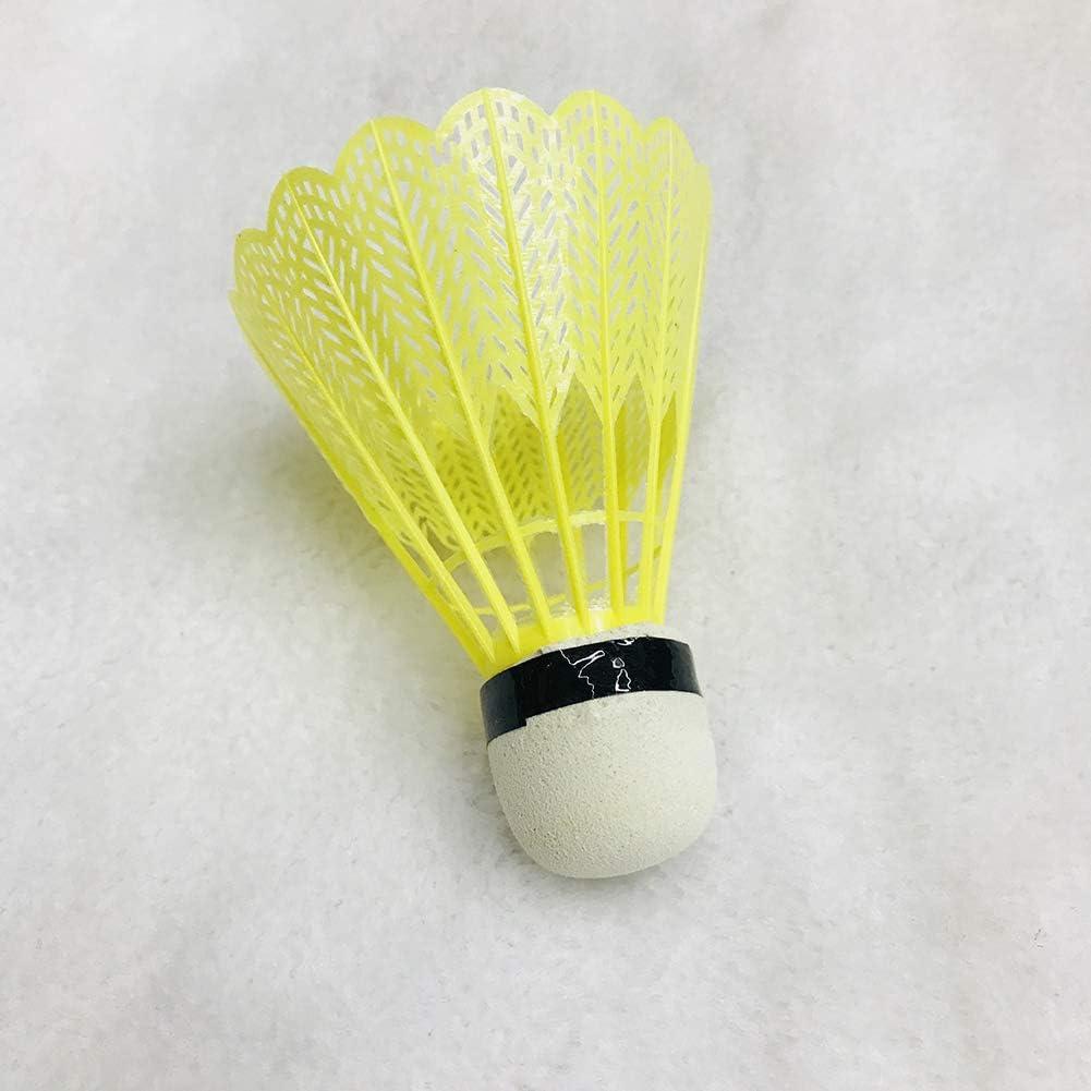 HugeStore 12 Pcs Plastic Badminton Shuttlecocks Badminton Birdies Balls for Outdoor Sports Training
