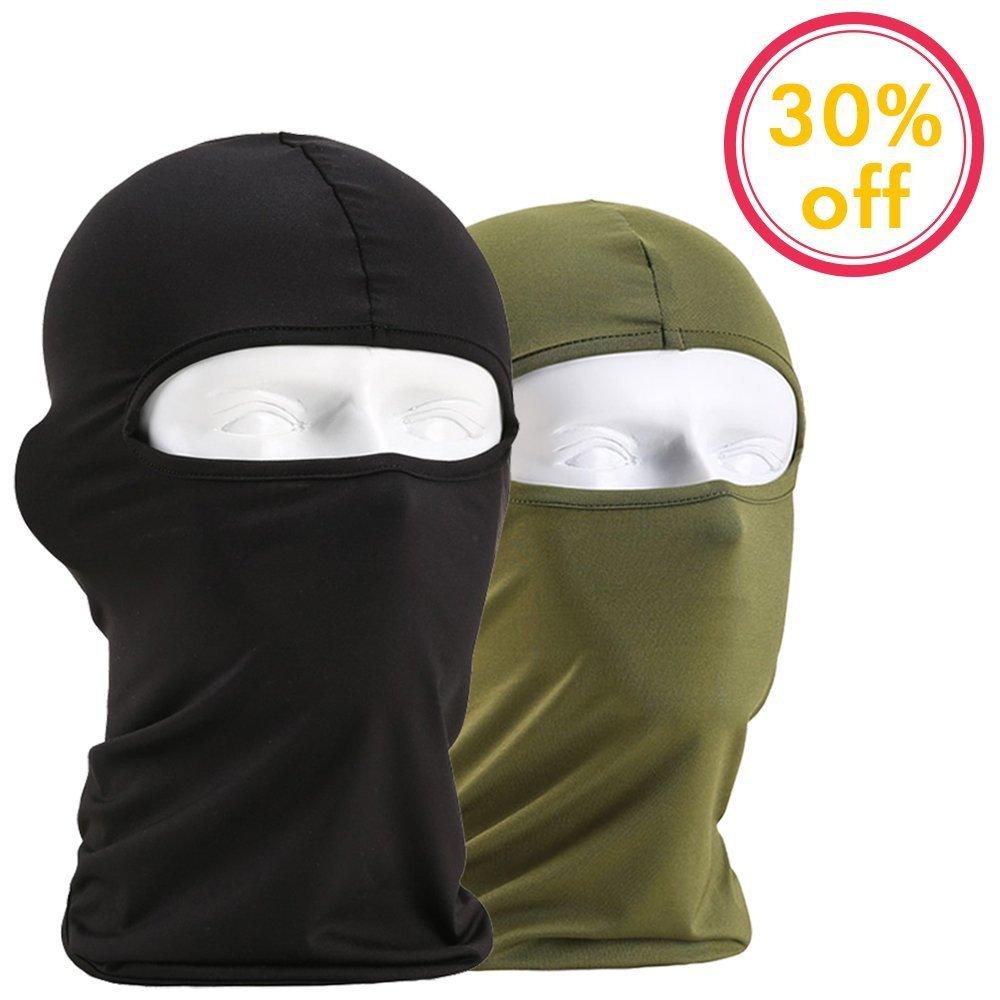 NiceButy 2pcs Masques Casquette Tour de Cou Tête Cagoule Microfibre Chapeaux Tube Masque Visage Résistant au Vent et aux UV Anti Poussière pour Randonnée Voyage Vélo Moto Outdoor
