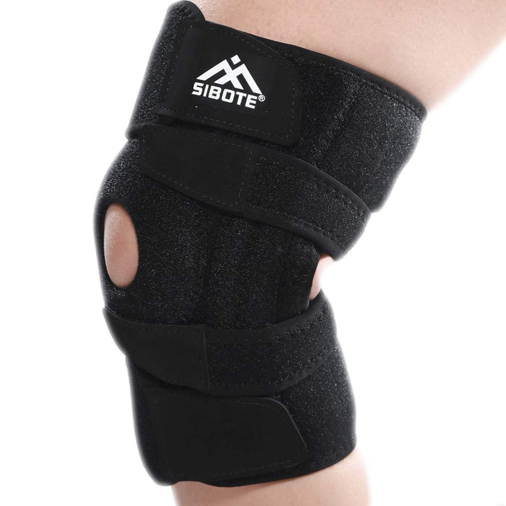 Kneepad Knee Support Sports Knee Brace Meniscus Injury Professional Fitness Knee shin Bone Protector (Color : One Size, Size : A Pair)