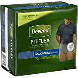 Depend Underwear for Men, Maximum, Large/Extra Large, Pack/17