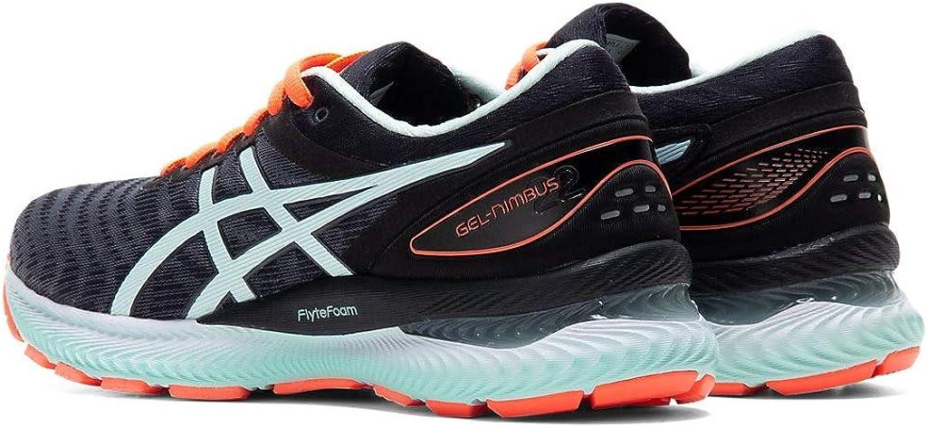 ASICS Gel-Nimbus 22 (D) Chaussures de course pour femme Noir Menthe Bio