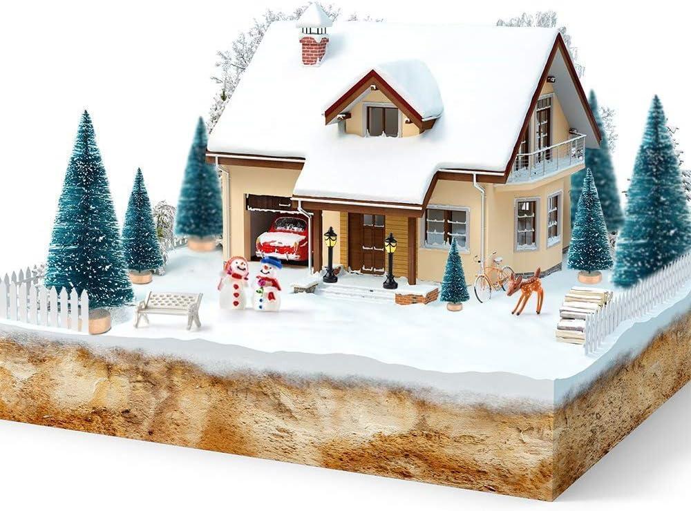 4.5cm 10pcs Blesser Sapin de No/ël Artificiel Mini Sapin de No/ël Artificiel Petit Arbre de No/ël D/écoration de Table Christmas Trees