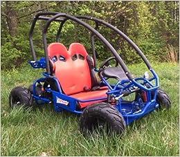 Amazon com: Big Horn 70cc Go Kart w/ Electric Start - 70cc