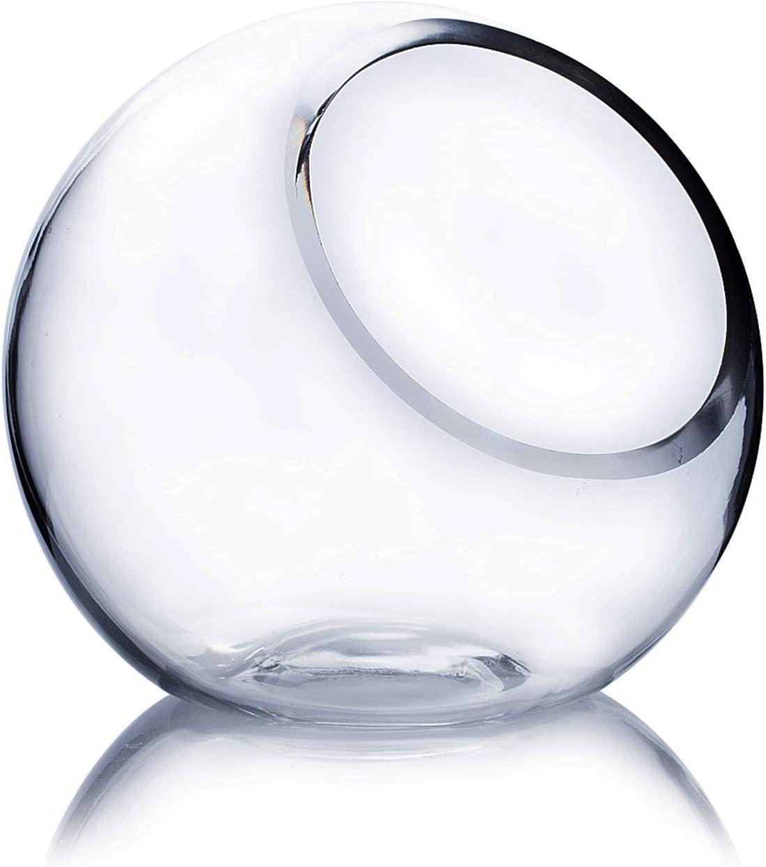 WGV Slant Cut Bowl Glass Vase, Width 5.5