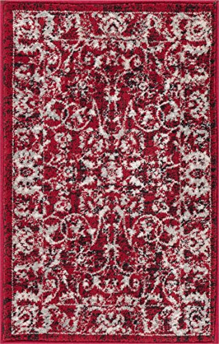 Well Woven Essex Red & Ivory Vintage Traditional Persian Oriental Sarouk 2x3 (20