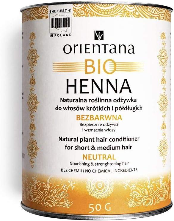 100g Orientana BIO HENN/É Conditionneur incolore /à base de plantes pour les cheveux longs 100/% naturel