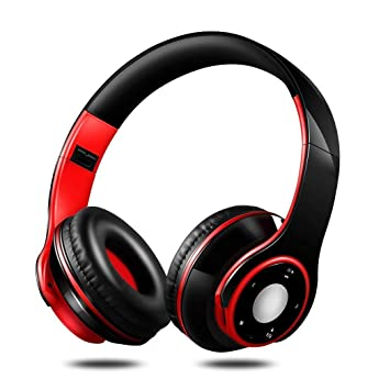 Xiak Auriculares inalámbricos Bluetooth para Colocar Sobre Las Orejas Plegables con micrófono, General Estéreo SG-8 Use audífonos livianos Auriculares ...