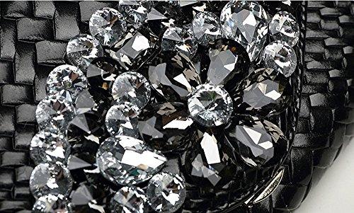 diamant de Silver en de grande paquet Silver banquet sacs capacité à Sacs européen américain main cuir cuir en dîner féminin Couleur en main à et paquet 4wqHOwx6P