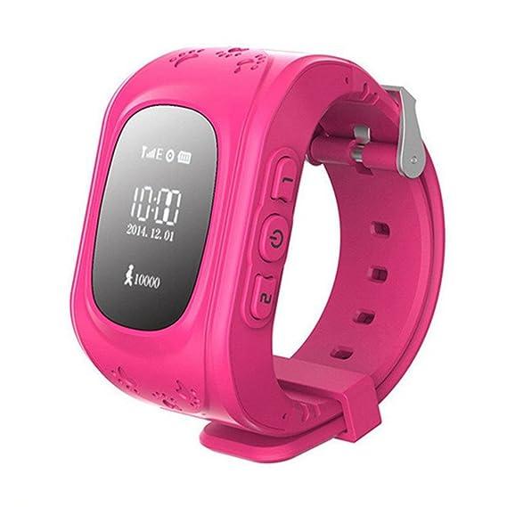Rosepoem Rastreador GPS de los niños SmartWatch Reloj inteligente ...