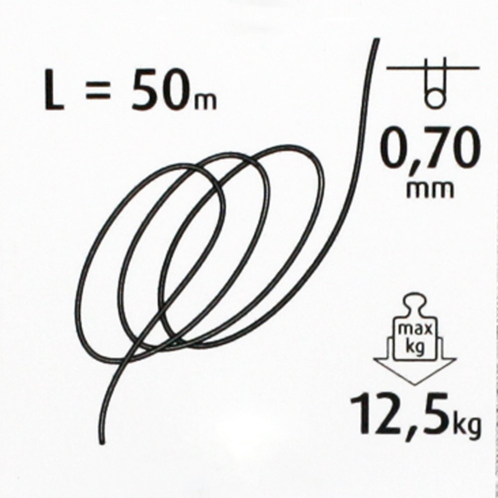 Christoph Palmera Manualidades Hilos 0,70/mm L =/ 50/Metros de Montaje Hilo hasta MAX. 12,5/kg Fuerza de tracci/ón /Sedal de Pesca de Nylon Transparente Joyas Hilo