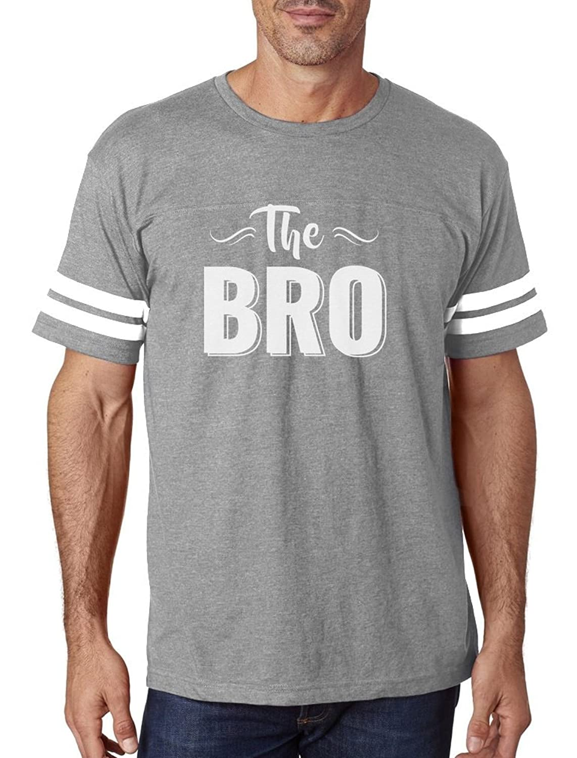 TeeStars - The BRO - Great Gift for Brothers, Siblings Football Jersey T-Shirt
