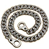 14'' ~ 36'' 316L Stainless Steel Rose Flower Mens Biker Punk Wallet Chain 4R013WC (End to End 34 Inches)
