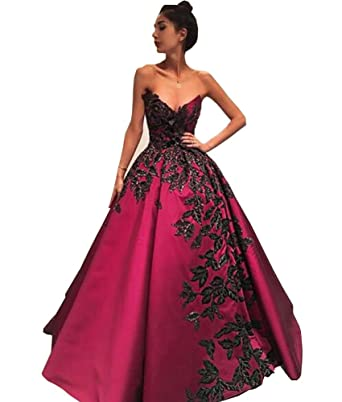 Sexy V Neck Prom Dresses Long Embroidered Evening Ball Gowns For Women Formal