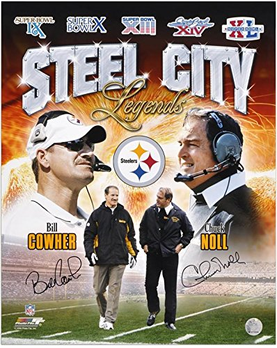 - Bill Cowher and Chuck Noll Pittsburgh Steelers Dual-Signed 16