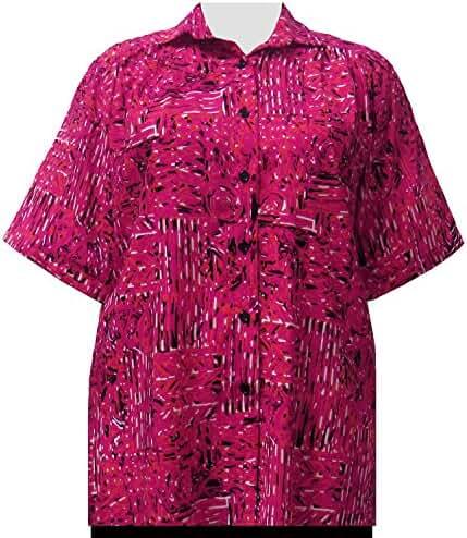 A Personal Touch Geranium Tribal Designs Women's Plus Size Blouse
