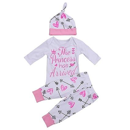 M&A Bebé Niña Monos Pijamas Peleles Niña Manga Larga Otoño Primavera 4 pics Gorro+Tocado