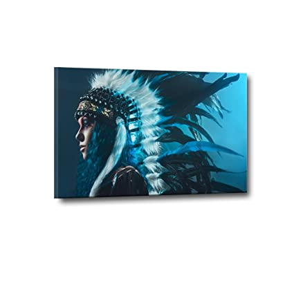 Amazon.com: Native American Wall Art Abstract Canvas Print Art Home ...