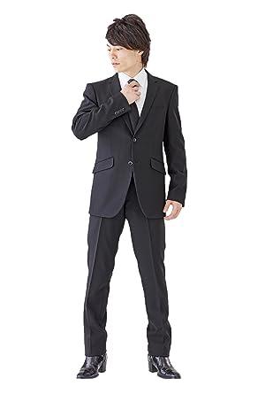 e159b575ff733 (モノワール) MONOIR 喪服 メンズ 礼服 スリムサイズ シングル ブラックフォーマル スーツ オールシーズン 帝人
