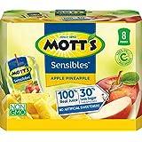 Mott's Sensibles Apple Pineapple 100% Juice, 6 fluid ounce juice pouch, 8 count (Pack of 4)