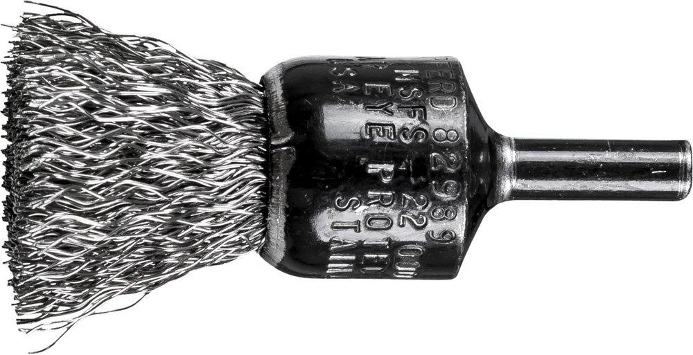 22,000 RPM INOX Stainless Steel Pack of 10 3//4 Diameter.014 Wire Diameter PFERD 82989 Stem Mounted Crimped Wire Brush