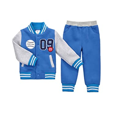 e0163c31bb364 Cute On Kids Boys Girls Long Sleeve Baseball Tracksuit Jacket + Trouser  Sports Suit Outfits Set Age 1-5 Years
