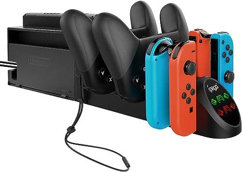 Base de carga para Nintendo Switch Joy-con y Pro Controller, accesorios de repuesto para Nintendo Switch Controller: Amazon.es: Electrónica
