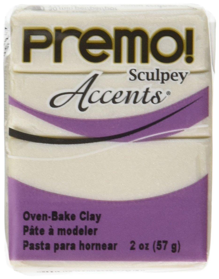 Premo Sculpey Accents Polymer Clay 2oz-Pearl Polyform FBA_P3900-5101