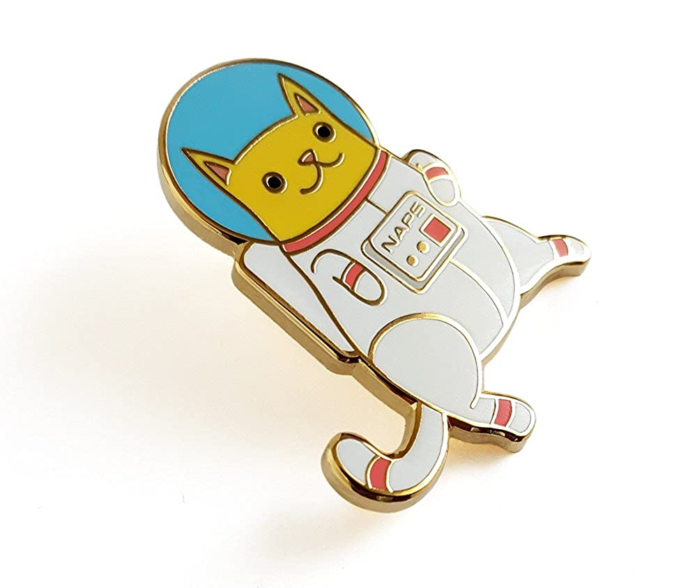 Amazon.com: Pinsanity Astro Cat prendedor de solapa ...