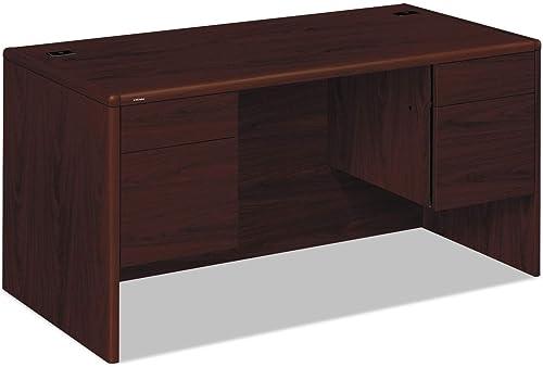 10700 Series Double 3/4 Pedestal Executive Desk Finish: Mahogany