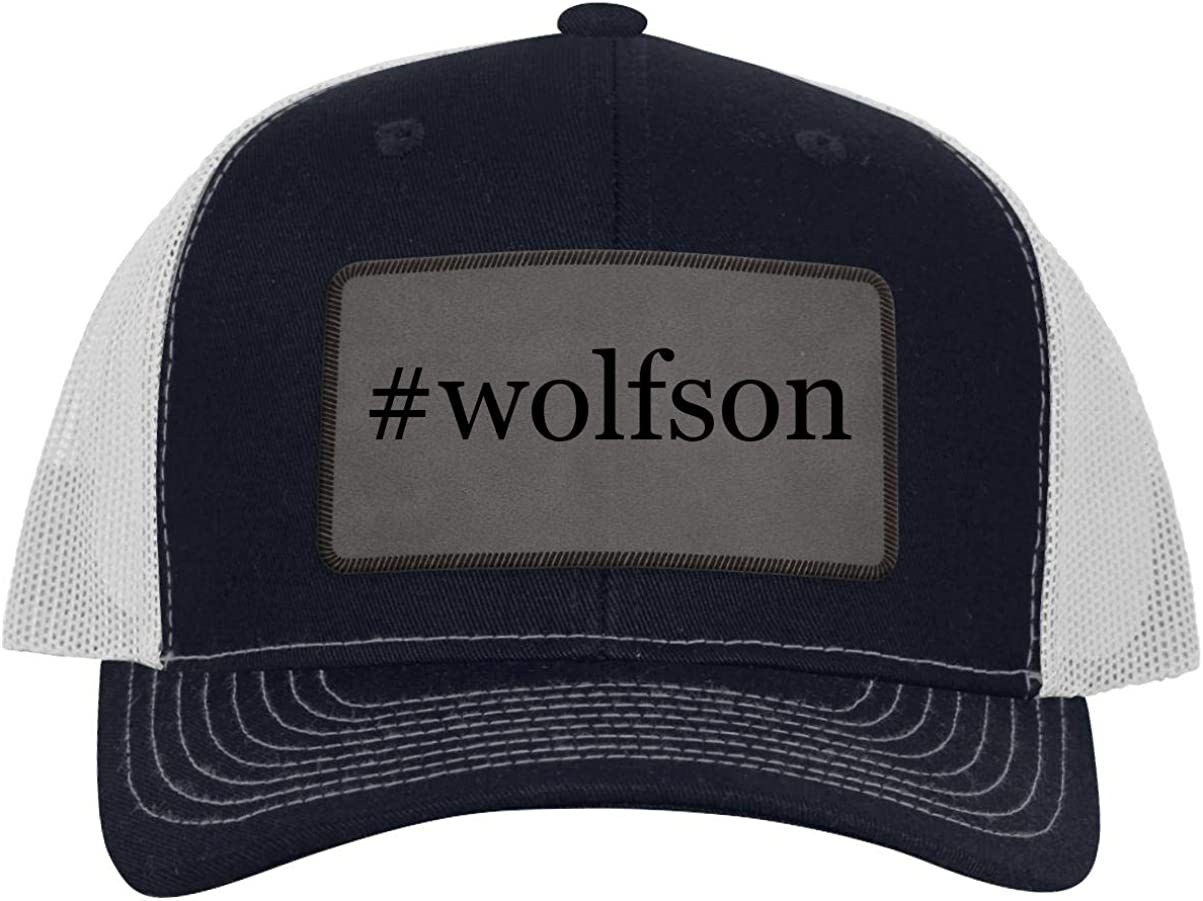B07Z2XQC6D One Legging it Around #Wolfson - Leather Hashtag Grey Patch Engraved Trucker Hat 61vAd2AzLDL