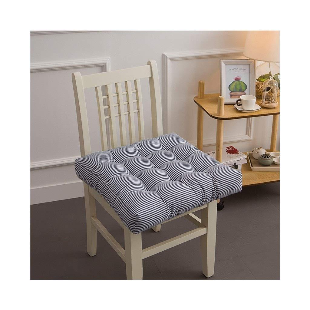 Cushion, Padded Cushion Chair Cushion Office Cushion Student Cushion Classroom Stool Butt Pad Four Seasons Breathable Square (color : Black, Size : 40cmx40cmx10cm)