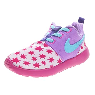 super popular 53404 8df74 Amazon.com   Nike Girls Roshe Run Print Lifestyle Casual Running Toddler  Size (Prism Pink Tide Pool Blue, 6 M US Toddler)   Fitness   Cross-Training