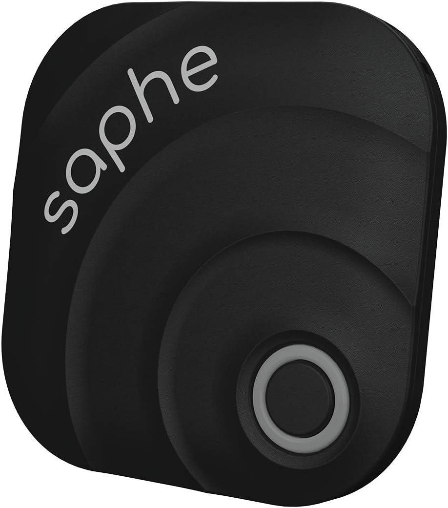 Saphe MC Alarma de tráfico, señalización de radares para Motocicletas con señal acústica; Funciona en Toda Europa, va colocado en el Casco, se inicia automáticamente a través de Bluetooth.