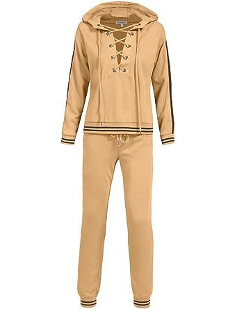 51faf70601ba7 Amazon.com: NE PEOPLE Womens Casual Basic Zip up Hoodie Terry Sweatsuit  Tracksuit Set: Clothing