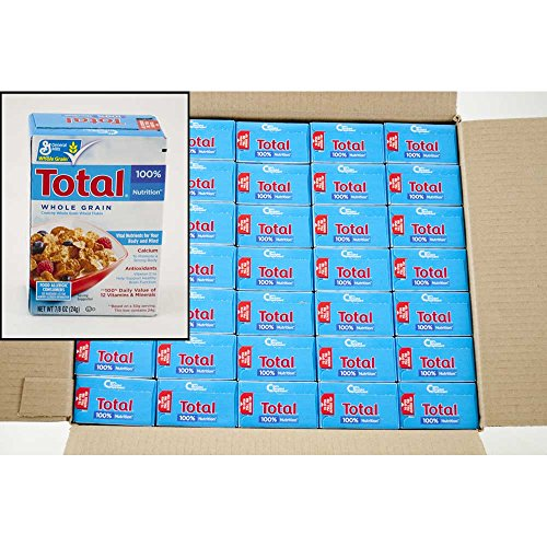 Total Whole Grain Cereal - General Mills Total Cereal, 0.88-Ounce Single Packs (Pack of 70)