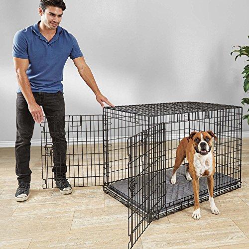 You & Me Ultra Tough 2-Door Folding Dog Crate, 43