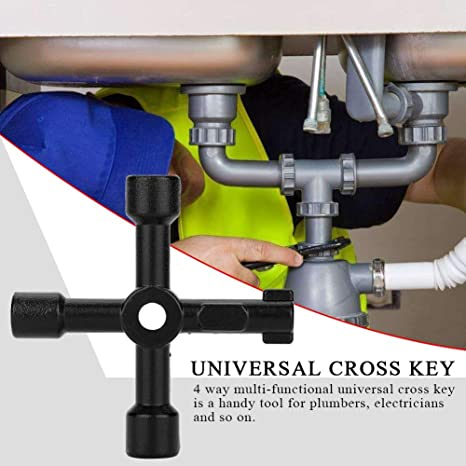 Clave de herramientas de 4-Way 70 Mm-agua electricidad y gas gabinetes de servicio MS134
