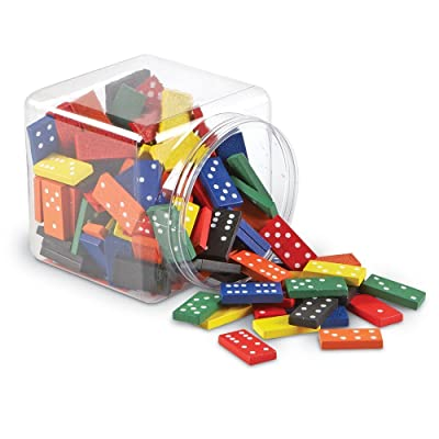 Learning Resources Double-six Dominoes In Bucket, Teaching aids, Math Classroom Accessories, 168 Pieces, Ages 5+: Toys & Games