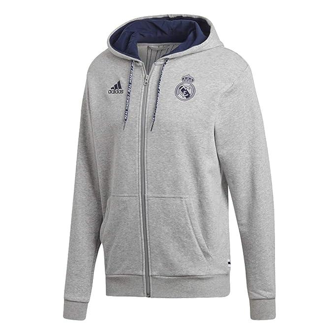 Amazon.com: adidas Mens Real Madrid Full Zip Hoodie 2019-20 ...