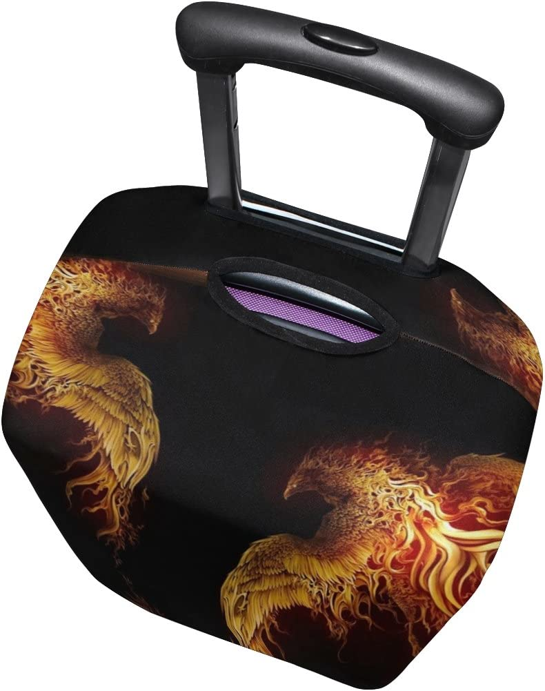 LEISISI Fire Bird Luggage Cover Elastic Protector Fits XL 29-32 in Suitcase