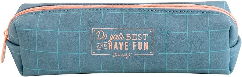 Mr; Wonderful Woa09162Em Estuche Do Your Best And Have Fun: Amazon.es: Oficina y papelería
