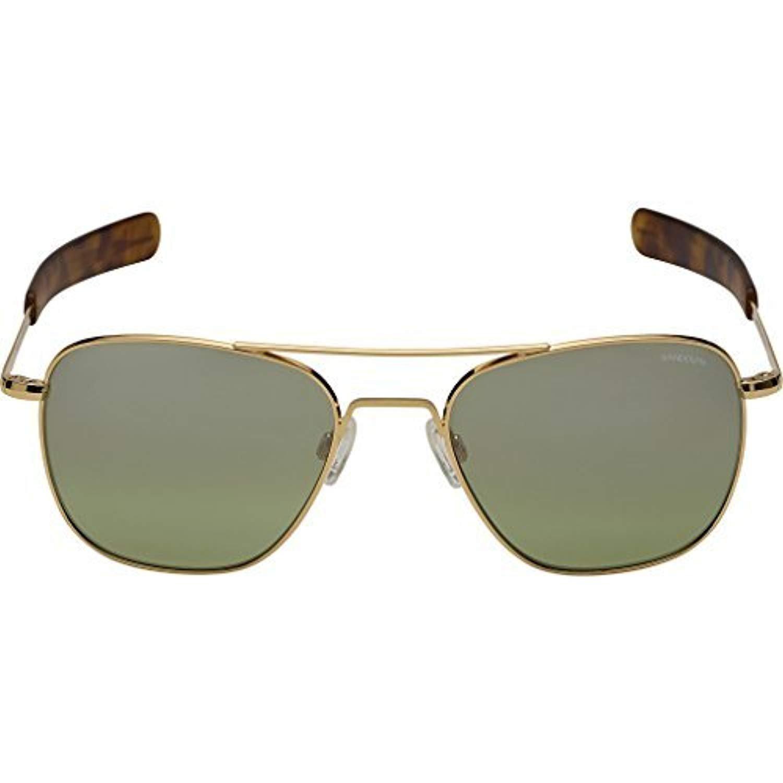 e6041408da3 Amazon.com  Randolph Engineering Aviator 23K Gold Sunglasses