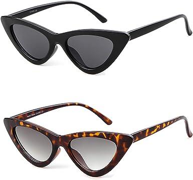 Shades Women Brown Cat Eye Sunglasses Retro Designer Vintage Fashion