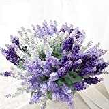 Soxee(TM) Pretty Charming Delightful 10 Head 1 Bouquet Mini lavender Artificial Silk Flower Bride Bridal Decal Home Decoration C56