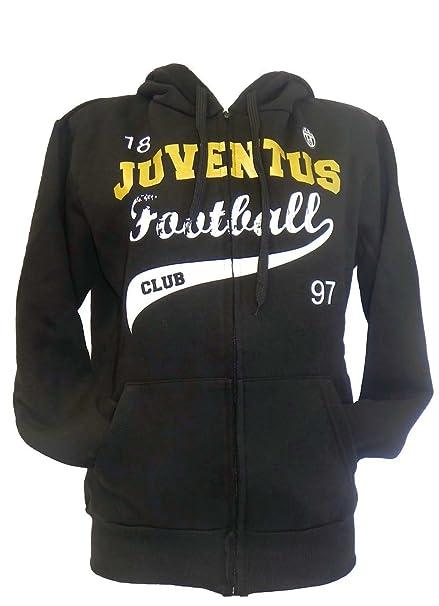 MARCELLO55 Felpa Donna Juventus Nera Scritta Oro Prodotto